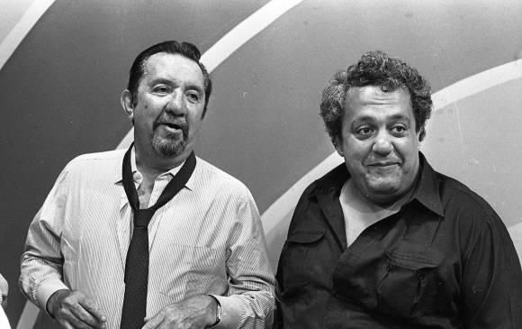 $!Pacheco y el Gordo Benjumea, grandes amigos, y figuras de la televisión colombiana. FOTO Colprensa