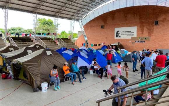 Las autoridades reforzaron protocolos de bioseguridad para evitar un brote de coronavirus en la población refugiada en Arauca. FOTO CORTESÍA