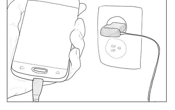 Puede usar el dispositivo mientras está conectado a la luz, a menos que este se recaliente.