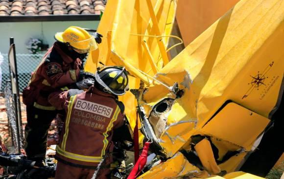 Avioneta cayó sobre una vivienda en vereda de Copacabana