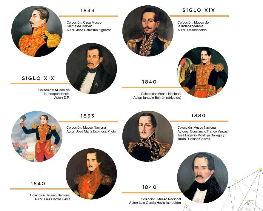 Arte: Los rostros del prócer Santander