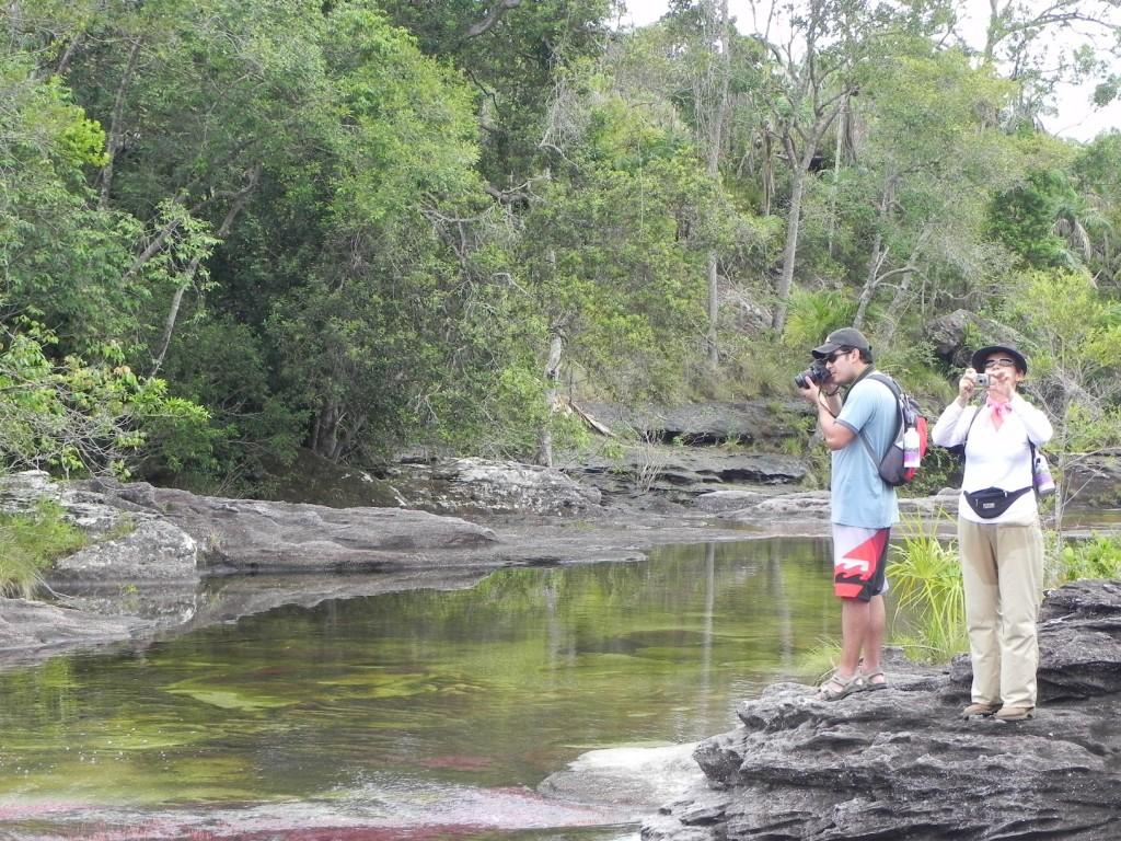 Turistas en Caño Cristales