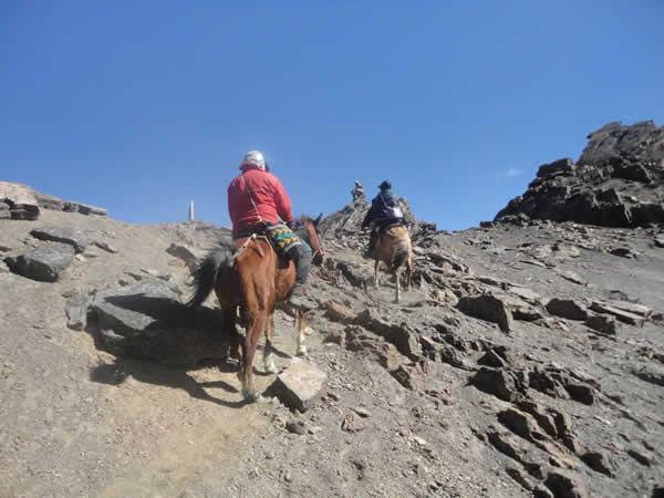 Subiendo al Boquerón de la Sierra
