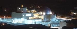 vista nocturna del viejo planetario