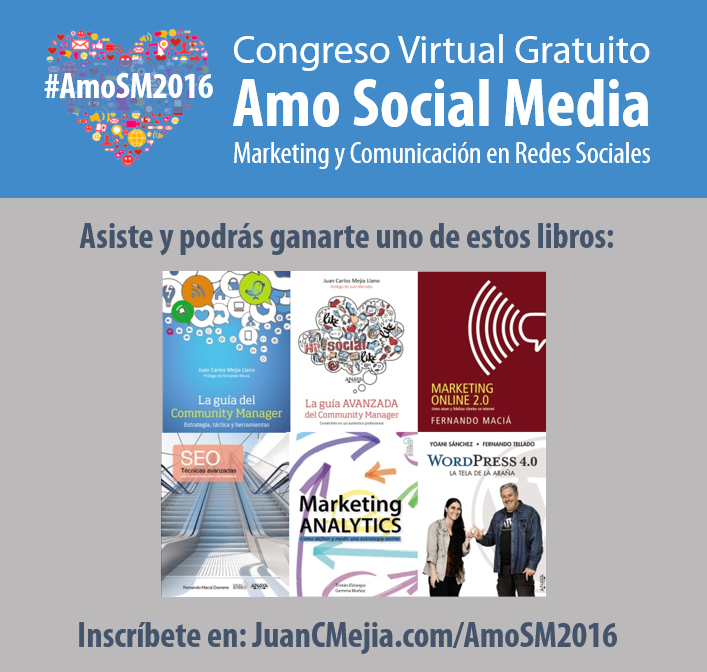Congreso #AmoSM2016 Congreso virtual gratuito social media