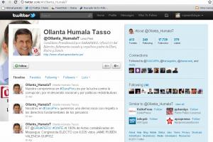En la última semana se nota un mayor uso de los Hashtag en menciones, pero poco vínculo a contenidos de la web corporativa en el perfil del aspirante de Perú Posible Ollanta Humala.