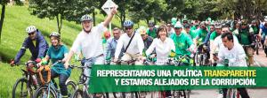 Fotos de sus ciclopaseos, marcadas con la imagen de campaña.