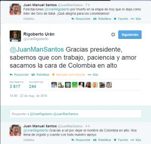 Diálogo en Twitter con el Presidente