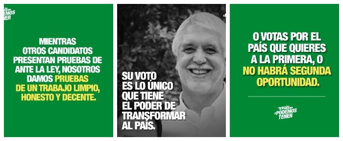 Algunos ejemplos del estilo de los contenidos virales de Peñalosa.