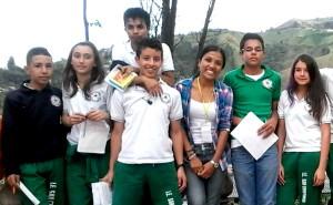 Taller en I. E. San Cristóbal. Año: 2014
