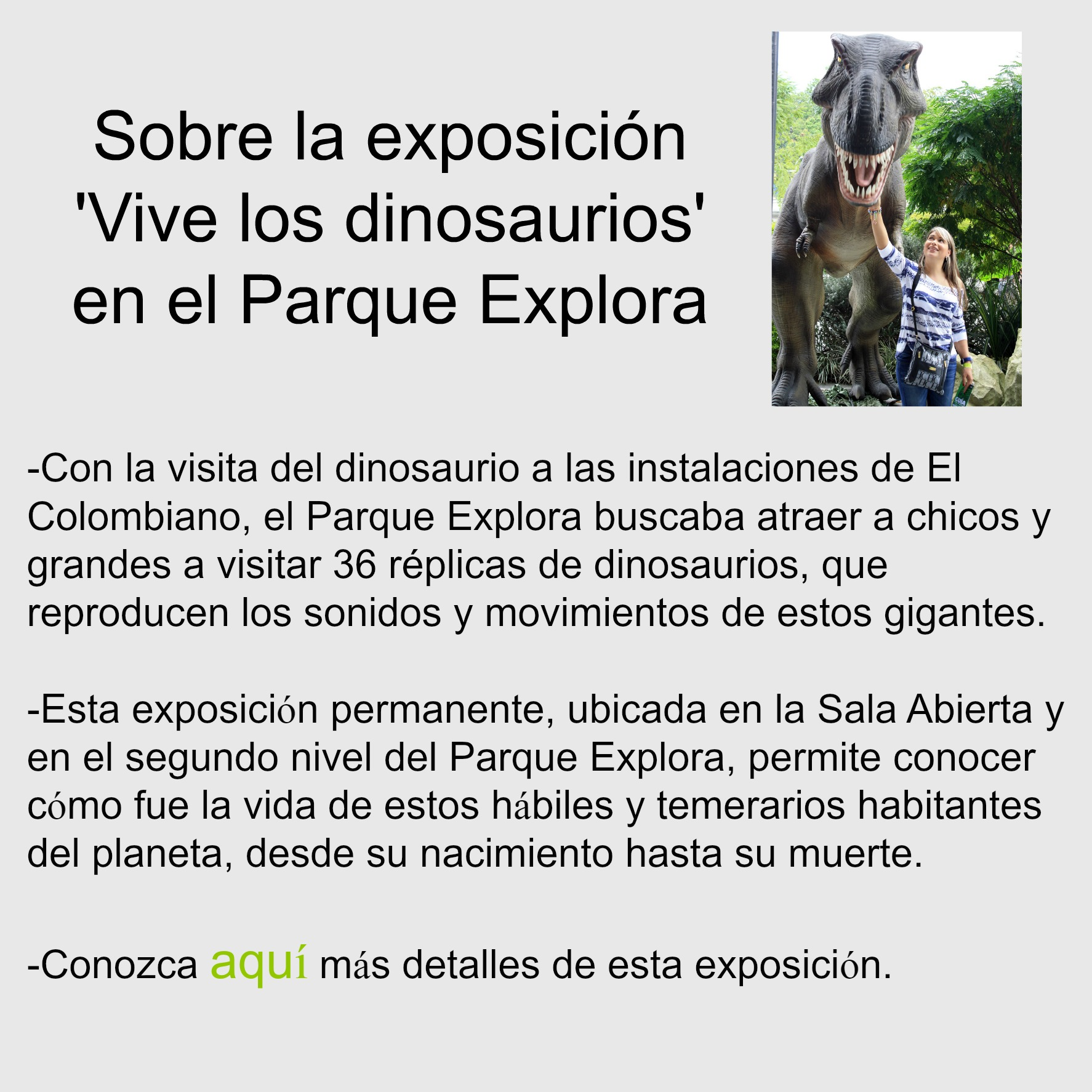 Foto tomada del sitio: parqueexplora.org
