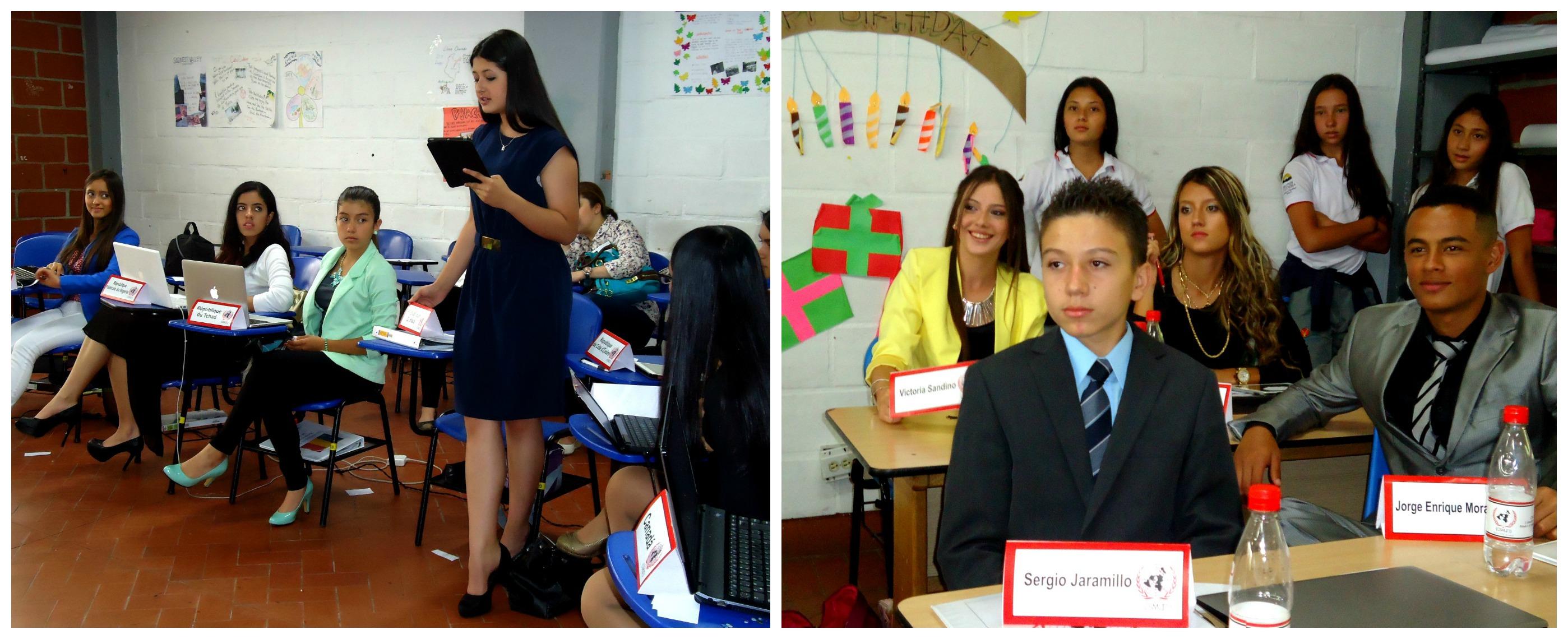 En la representación del Modelo ONU participaron estudiantes de 9° a 12°