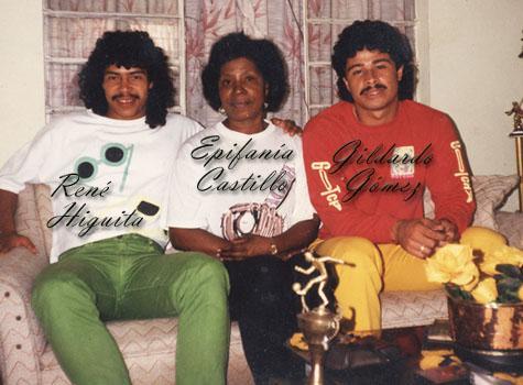 A la izquierda René Higuita; en el centro Epifania Castillo; a la derecha Gildardo Gómez. Archivo personal