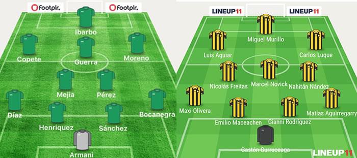 Esta serían las nóminas que utilizaría tanto Nacional como Peñarol.