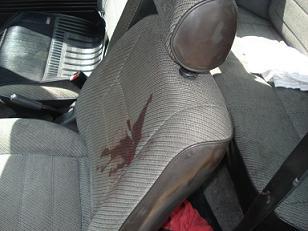 En este carro fue asesinado Óscar López Cadavid.