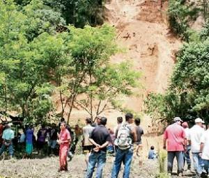 Deslizamiento en Amagá. Foto de Jaime Pérez.