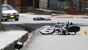 Escena del crimen en Francisco Antonio Zea. Foto de Juan Diego Zapata.