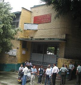 El colegio donde ocurrieron los hechos, en Campo Valdés.