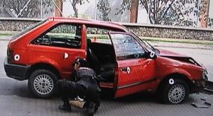 Dentro de este vehículo viajaba la mujer fallecida.