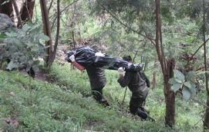 El segundo cadáver sacado del cerro La Asomadera.