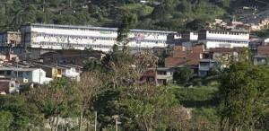 Fachada de la cárcel Bellavista, en el municipio de Bello.