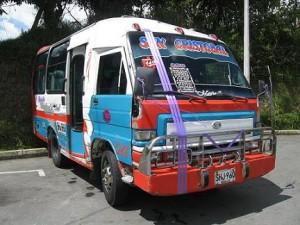 Este era el microbús que manejaba 'El negro Múnera'.