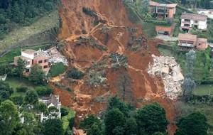 Derrumbe de El Poblado. Foto de Donaldo Zuluaga.