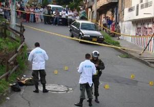 Escena del crimen, en la carrera 41 con la calle 70A. Foto de Carlos Taborda.