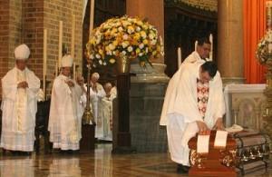 La misa póstuma, en la Basílica Metropolitana. Foto de Jaime Pérez.