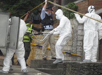 Así finalizó la inspección a los cadáveres.
