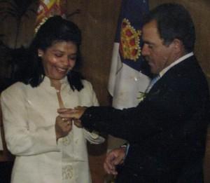 El matrimonio de la pareja fue en España.
