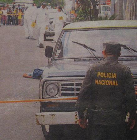 Doble homicidio en peluquería de La Floresta. Foto de Stephen Arboleda.