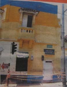 El hotel del Centro en el cual mataron a tres hombres.