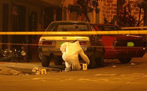 La escena del crimen, en Belén San Bernardo. Foto de Jaime Pérez.