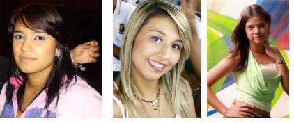 Yudy Castillo, Laura Echeverri y Jenifer Puerta.