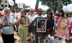 El pasado 27 de julio marcharon en La Estrella por el caso de las tres jóvenes secuestradas, en el cual hay policías implicados.