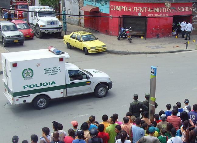 Una panorámica de la escena del crimen, en el barrio Miranda.