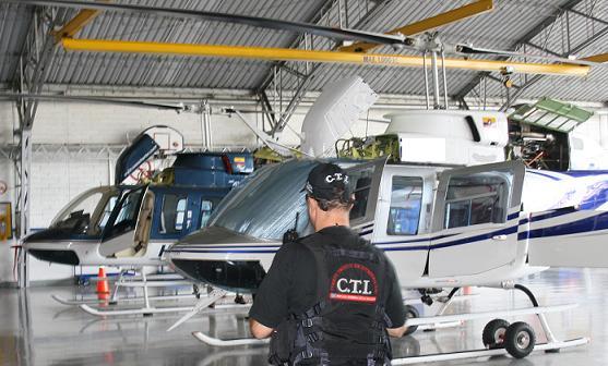 Los helicópteros inmovilizados en el Olaya Herrera.