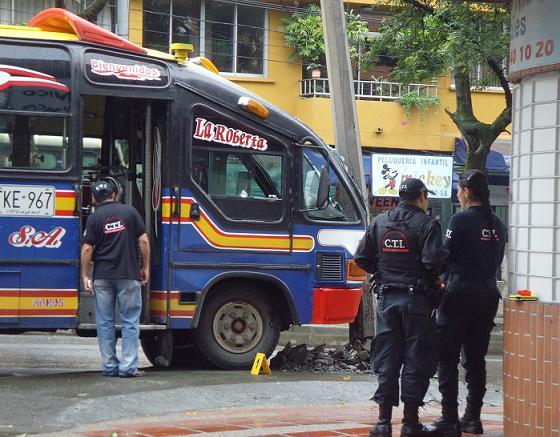 La escena del crimen en el barrio Calasanz.