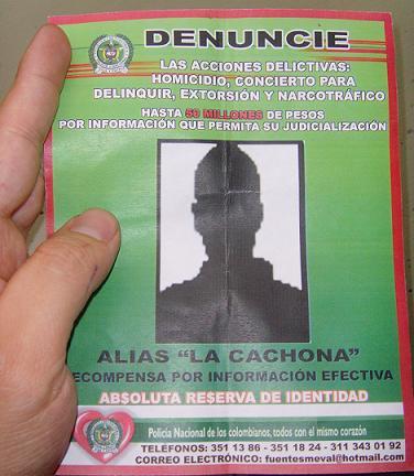El volante que la Policía distribuye para dar con el paradero de 'La Cachona'.