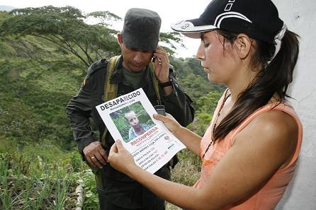 La búsqueda fue intensa por los montes de San Carlos. Foto de Manuel Saldarriaga.