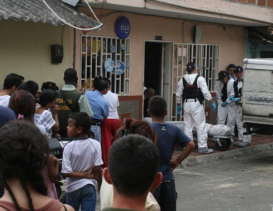 El lugar de los hechos, en el barrio El Porvenir. Foto de Esteban Vanegas.