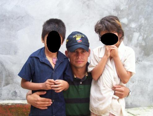 Los niños rescatados tras la captura de 'La Barbada', quien se hacía pasar por su madre.