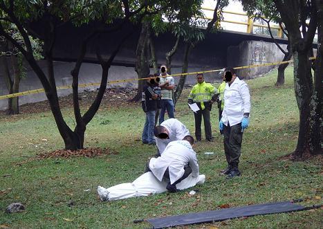 En este sitio fue hallado el cadáver de la víctima, en la mañana de hoy.