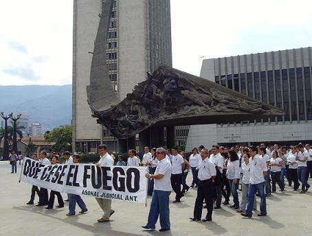 El 23 de abril de este año, el gremio judicial marchó en La Alpujarra para condenar este crimen.