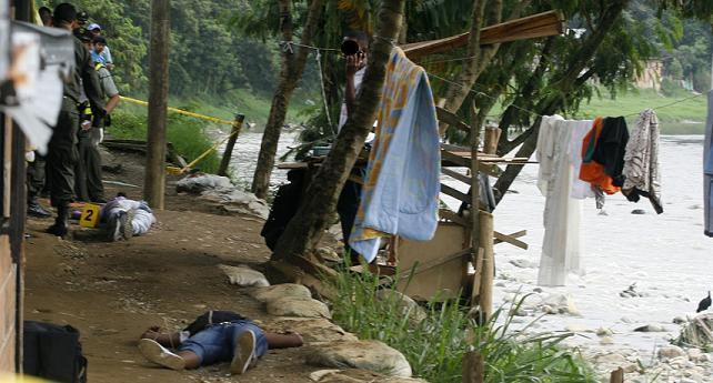 En este sitio fueron ejecutadas las dos mujeres. Se desconoce quién lo hizo. Fotos de Esteban Vanegas.