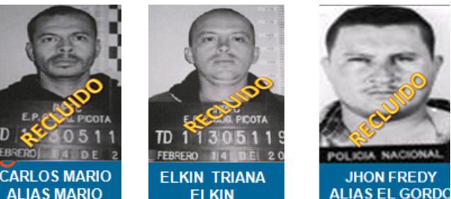 Así figura el clan Triana en los carteles de la Policía. Ahora Elkin está libre, la banda sigue activa, ¿regresará a la organización ilegal?