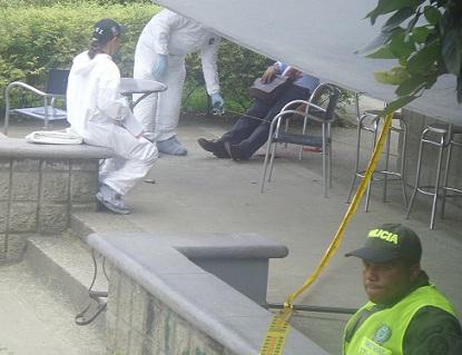 Así fue la escena en el municipio de Bello. El homicída empleó un revólver y solo disparó una vez.