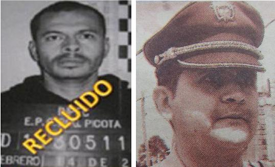 A la izquierda está el cabecilla de 'Los Triana' apodado 'Mario Chiquito'; a la derecha, el también condenado teniente (r) Johny Villegas, excomandante de la estación de Caldas.