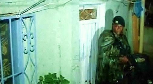 Esta es la casa en la cual se presentó el ataque. La granada hizo un hueco en el techo. Imagen de cortesía.